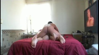 Straight Mexican fucking Guy while watching str8 porn